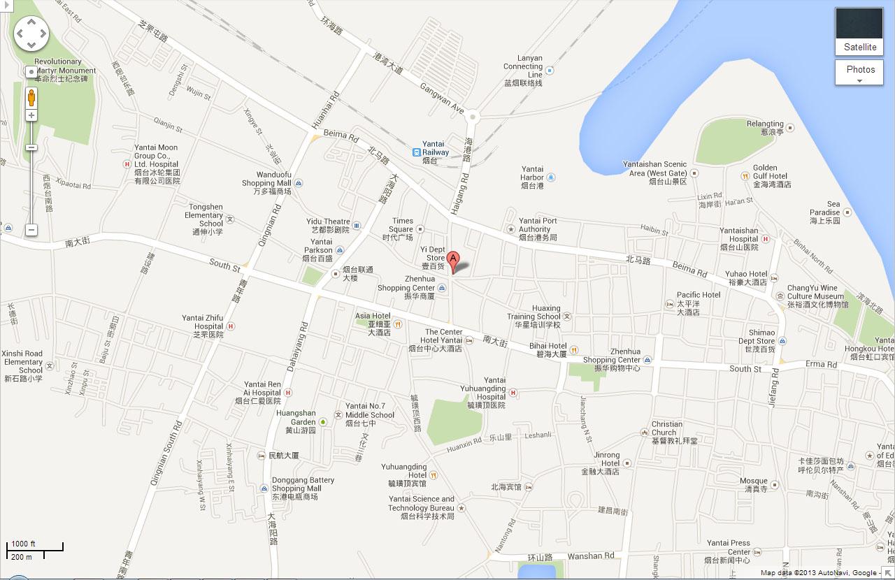 Asia-China-Yantai-Map