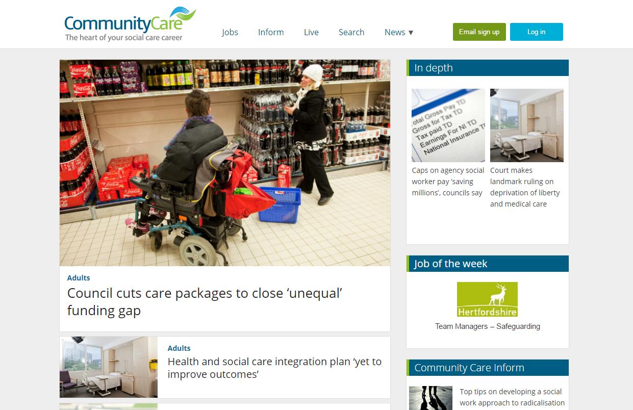 Community-Care-website