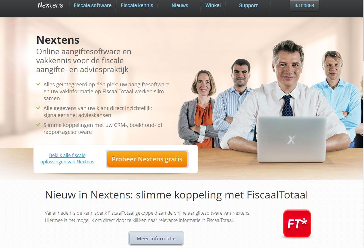 Nextens-website